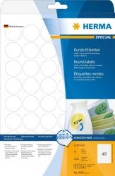 4387 Etiketten A4 weiß Ø 30 mm rund Movables/ablösbar Papier matt 1200 St.