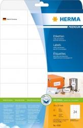 4390 Etiketten Premium A4, weiß 70x37 mm Papier matt 600 St.