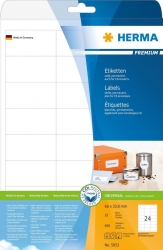 5053 Etiketten Premium A4, weiß 66x33,8 mm Papier matt 600 St.