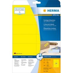 5058 Etiketten - gelb, 105 x 42,3 mm, Papier, matt, 280 Stück, ablösbar