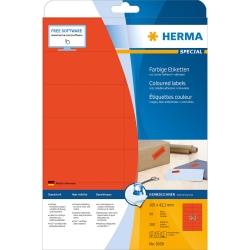 5059 Etiketten - rot, 105 x 42,3 mm, Papier, matt, 280 Stück, ablösbar