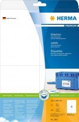 5063 Etiketten Premium A4, weiß 105x148 mm Papier matt 100 St.