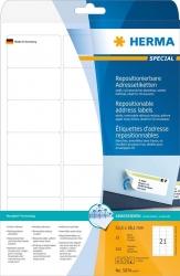 5074 Adressetiketten A4 weiß 63,5x38,1 mm repositionierbar Papier matt 525 St.