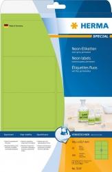 5147 Etiketten A4 neon-grün 99,1x67,7 mm Papier matt 160 St.