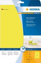 5148 Etiketten A4 neon-gelb 210x297 mm Papier matt 20 St.
