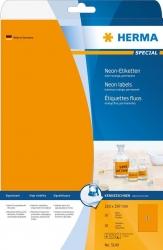 5149 Etiketten A4 neon-orange 210x297 mm Papier matt 20 St.