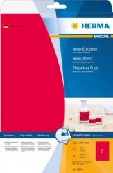 5048 Etiketten A4 neon-rot 210x297 mm Papier matt 20 St.