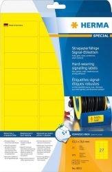 8031 Signal-Etiketten strapazierfähig A4 63,5x29,6 mm gelb stark haftend Folie matt wetterfest 675 St.