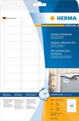 9531 Etiketten A4 Outdoor Klebefolie weiß 45,7x21,2 mm Folie matt 480 St.