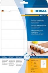 9533 Etiketten A4 Outdoor Klebefolie weiß 99,1x42,3 mm Folie matt 120 St.