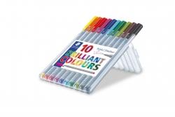Feinschreiber triplus® - 0,3 mm, Aufstellbox, 10 Farben