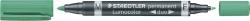 Permanentmarker Lumocolor® duo - nachfüllbar, 0,6 mm und 1,5 mm, grün