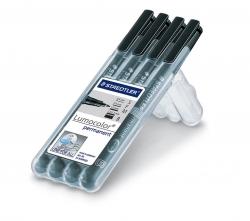 Feinschreiber Lumocolor® pen set Universalstift, STAEDTLER Box mit 4 Stiften