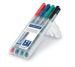 Feinschreiber Universalstift Lumocolor® non-permanent, M, STAEDTLER Box mit 4 Farben