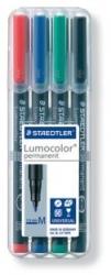 Feinschreiber Universalstift Lumocolor® permanent, M, STAEDTLER Box mit 4 Farben