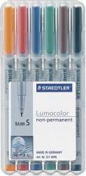 Feinschreiber Universalstift Lumocolor® non-permanent, S, STAEDTLER Box mit 6 Farben