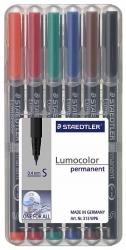 Feinschreiber Universalstift Lumocolor® permanent, S, STAEDTLER Box mit 6 Farben