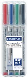 Feinschreiber Lumocolor® Universalstift non-permanent, F, STAEDTLER Box mit 4 Farben