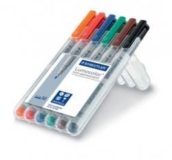 Feinschreiber Universalstift Lumocolor® non-permanent, M, STAEDTLER Box mit 6 Farben