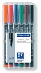 Feinschreiber Universalstift Lumocolor® permanent, M, STAEDTLER Box mit 6 Farben