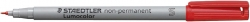 Feinschreiber Universalstift Lumocolor® non-permanent, S, rot
