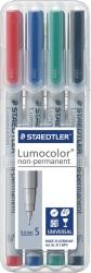 Feinschreiber Universalstift Lumocolor® non-permanent, S, STAEDTLER Box mit 4 Farben