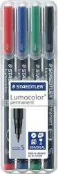 Feinschreiber Universalstift Lumocolor® permanent, S, STAEDTLER Box mit 4 Farben