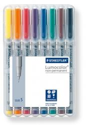 Feinschreiber Universalstift Lumocolor® non-permanent, S, STAEDTLER Box mit 8 Farben