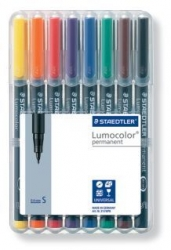 Feinschreiber Universalstift Lumocolor® permanent, S, STAEDTLER Box mit 8 Farben
