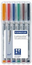 Feinschreiber Lumocolor® Universalstift non-permanent, F, STAEDTLER Box mit 6 Farben