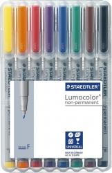 Feinschreiber Lumocolor® Universalstift non-permanent, F, STAEDTLER Box mit 8 Farben
