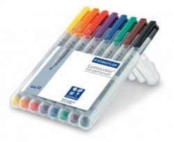 Feinschreiber Universalstift Lumocolor® non-permanent, M, STAEDTLER Box mit 8 Farben