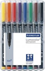 Feinschreiber Lumocolor® Universalstift permanent, F, STAEDTLER Box mit 8 Farben