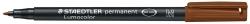 Feinschreiber Universalstift Lumocolor® permanent, M, braun