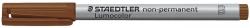 Feinschreiber Universalstift Lumocolor® non-permanent, B, braun