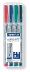 Feinschreiber Universalstift Lumocolor® non-permanent, B, STAEDTLER Box mit 4 Farben
