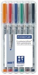 Feinschreiber Universalstift Lumocolor® non-permanent, B, STAEDTLER Box mit 6 Farben