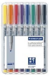 Feinschreiber Universalstift Lumocolor® non-permanent, B, STAEDTLER Box mit 8 Farben