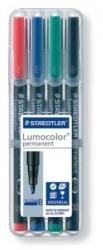 Feinschreiber Universalstift Lumocolor® permanent, B, STAEDTLER Box mit 4 Farben