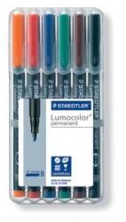 Feinschreiber Universalstift Lumocolor® permanent, B, STAEDTLER Box mit 6 Farben