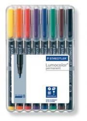 Feinschreiber Universalstift Lumocolor® permanent, B, STAEDTLER Box mit 8 Farben