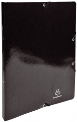 Ringmappe Iderama - A4/2R/15mm, mit Gummizug, schwarz