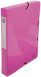 Archivbox Iderama - A4, 40 mm, mit Gummizug, rosa