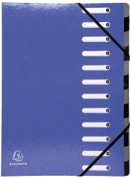 Ordnungsmappe Iderama - 12 Fächer, dunkelblau