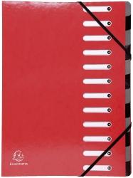 Ordnungsmappe Iderama - 12 Fächer, rot