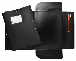 Exactive® Sammelmappe - A4, mit Gummizug, schwarz
