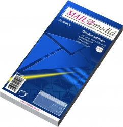 Briefumschläge DIN lang (220x110 mm), mit Fenster, selbstklebend, 72 g/qm, 25 Stück