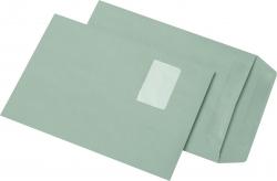 Versandtaschen Recycling - C4, mit Fenster, selbstklebend, 90g/qm, 250 Stück