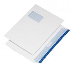 Briefumschlag C4, haftklebend, weiß, Offset 120g, 250 Stück mit Fenster