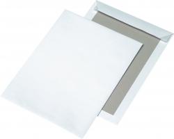 Papprückwandtaschen C4, ohne Fenster, 120 g/qm, weiß, 125 Stück